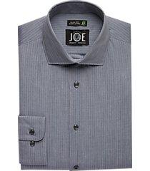 joe joseph abboud repreve® gray stripe slim fit dress shirt