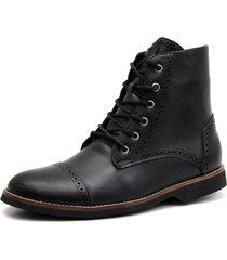 bota shoes grand londor preta tamanho grande