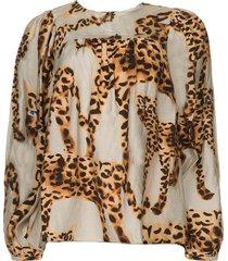 blouse met luipaardprint jet  dierenprint