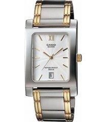 bem-100sg-7a reloj casio analogo bicolor elegante hombre