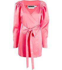 rotate front ribbon dress - pink