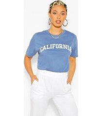 california slogan oversized t-shirt, indigo