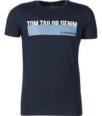 t-shirt korte mouw tom tailor denim band