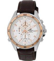 reloj edifice efr-547l-7a para caballero marrón/ oro rosa