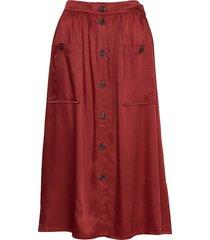 annalee knälång kjol röd mbym