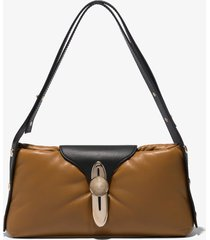 proenza schouler padded latch shoulder bag khaki/brown one size