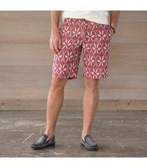 getaway shorts- red print