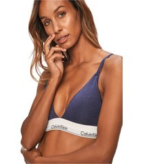calvin klein 000qf5650e unkined triangle top and body longwear women purple