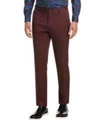paisley & gray slim fit suit separates dress pants burgundy