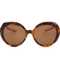 balenciaga balenciaga bb0024s havana sunglasses