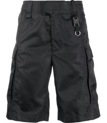 1017 alyx 9sm textured side pocket cargo shorts - black