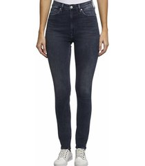 jeans high rise skinny azul calvin klein