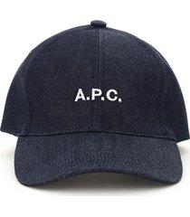 a.p.c. charlie denim baseball cap