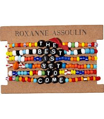 roxanne assoulin the best is yet to come camp bracelets - black