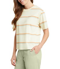 dickies juniors' cotton striped tomboy t-shirt