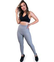 calça legging mvb modas   cintura alta bolha cinza