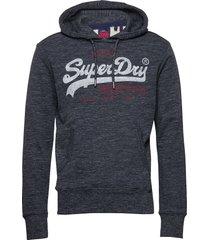 vl premium goods hood hoodie trui blauw superdry