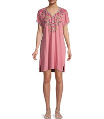 hulda easy embroidery tunic dress