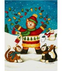 """laurie korsgaden 'cats in sweaters' canvas art - 14"""" x 19"""""""
