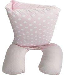 almofada amamentação portátil baby holder rosa- grátis protetor de pescoço-