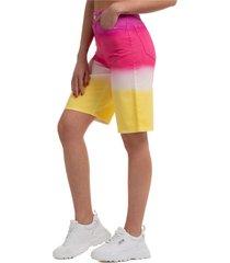 pantaloncini corti shorts donna jeans denim bermuda degrade