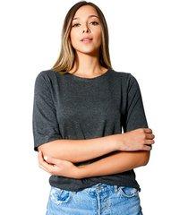 blusa jessica jersey para mujer color siete  - gris