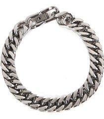 braccialetto d'argento classico in acciaio inox 316l