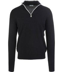 fedeli black favonio vintage pullover