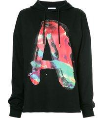 1017 alyx 9sm a slogan long-sleeve hoodie - black