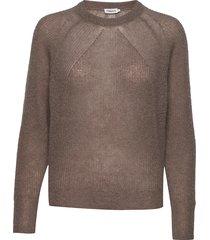 mohair r-neck sweater gebreide trui bruin filippa k