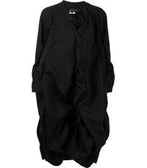 comme des garçons oversized draped coat - black