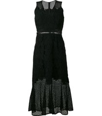 jonathan simkhai sleeveless lace trumpet dress - black