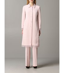 blumarine coat blumarine cady coat with lace inserts