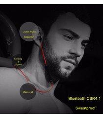 audífonos bluetooth deportivos inalámbricos, m9 sin hilos audifonos bluetooth manos libres  auricular del ruido mini tipo adsorción magnética (rojo)