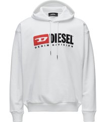 s-division sweat-shirt hoodie trui wit diesel men