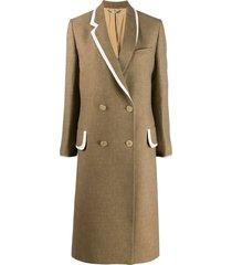 brown wool coat