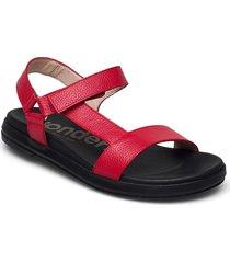 b-7410 willer shoes summer shoes flat sandals röd wonders