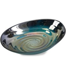 imax moody swirl glass bowl