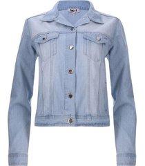 chaqueta mujer jean azul clara color azul, talla 8