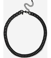 *coated chain necklace - black