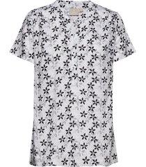 shirt s/s woven t-shirts & tops short-sleeved svart brandtex