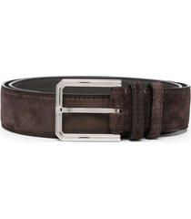 man brown suede belt