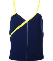 courrèges twisted strap top - blue