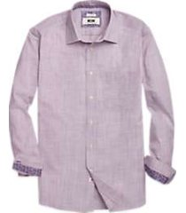 joseph abboud burgundy stripe sport shirt