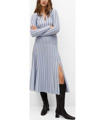 mango stripes pleated skirt