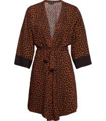 kimono morgonrock brun pj salvage