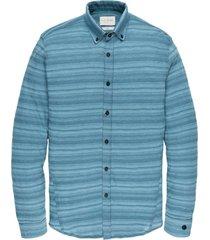 long sleeve shirt jersey pique str mallard blue