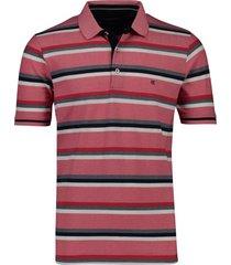 gestreept poloshirt rood casa moda