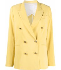 merci double-breasted yellow blazer in viscose blend