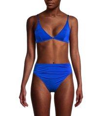 stella mccartney women's triangle bikini top - blue - size xs